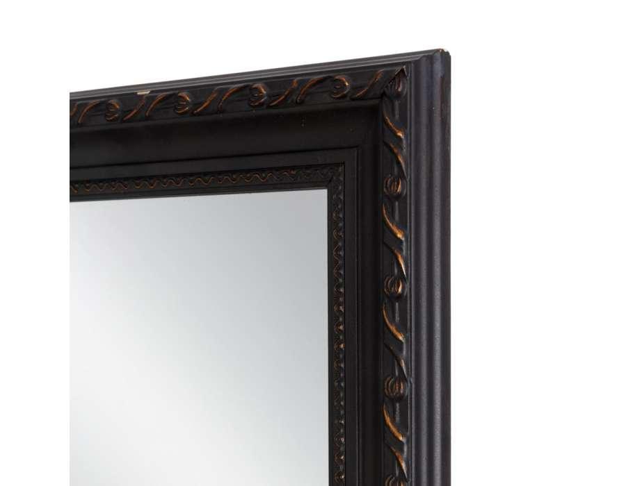 miroir bois noir or vieilli pas cher ixia