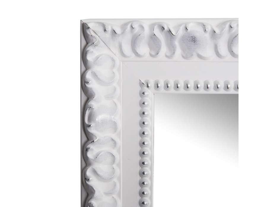 grand miroir poser ancien blanc 177 cm. Black Bedroom Furniture Sets. Home Design Ideas
