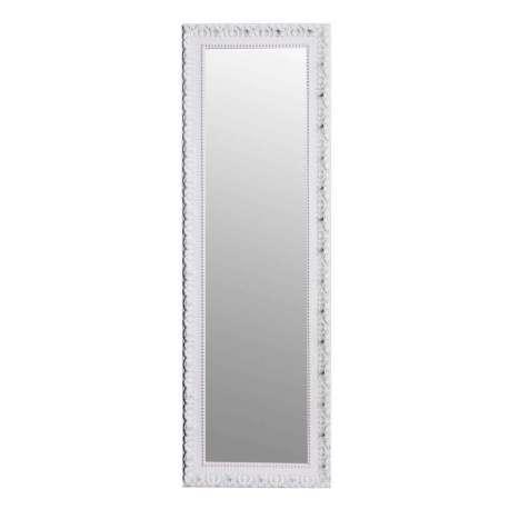 Grand miroir poser ancien blanc 177 cm for Grand miroir blanc