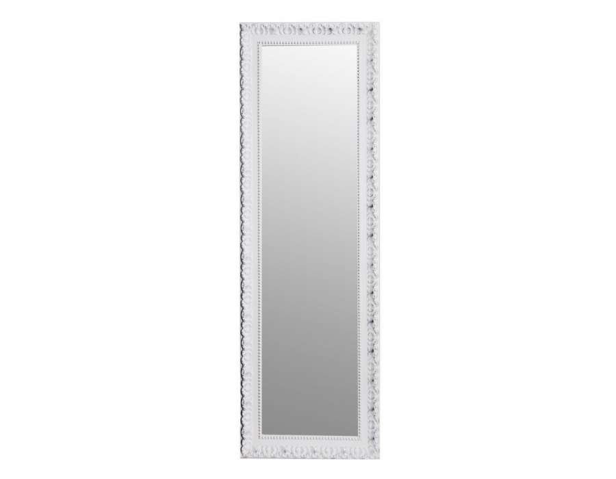 Grand miroir poser ancien blanc 177 cm for Grand miroir blanc