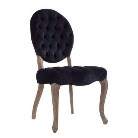 chaise capitonn e galb e en velours bleu vical home. Black Bedroom Furniture Sets. Home Design Ideas