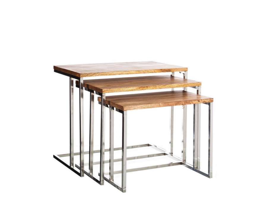 Les 25 meilleures id es concernant table gigogne tables for Table gigogne bois