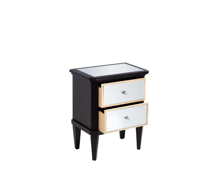 table de nuit la redoute chevet jimi la redoute interieurs la redoute table de nuit 2 tiroirs. Black Bedroom Furniture Sets. Home Design Ideas