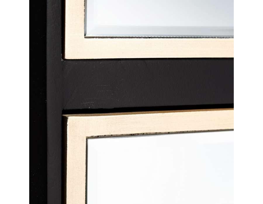 Chiffonnier miroir noir et dor 3 tiroirs pas cher - Miroir baroque noir pas cher ...