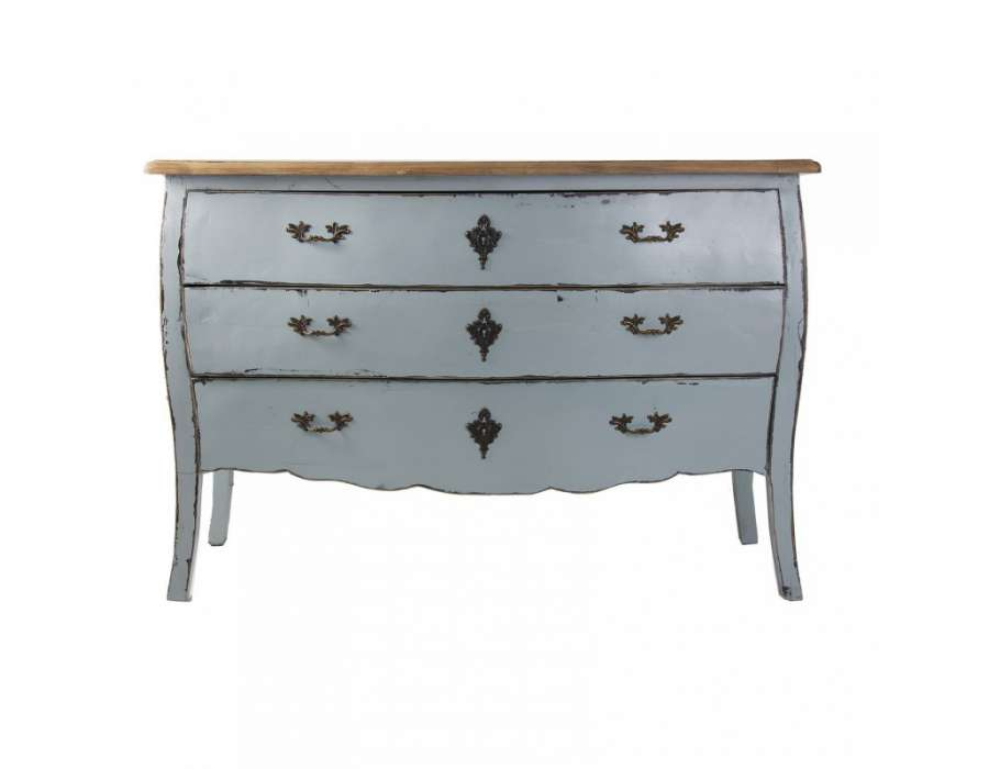 Commode baroque bleut e grise vical home - Commode de style baroque ...