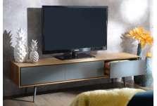 Meuble télé contemporain bicolore