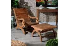 Fauteuil jardin teck avec sa table