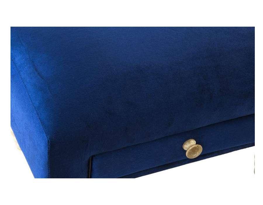 pouf bleu repose pied en velours pas cher avec tiroir. Black Bedroom Furniture Sets. Home Design Ideas