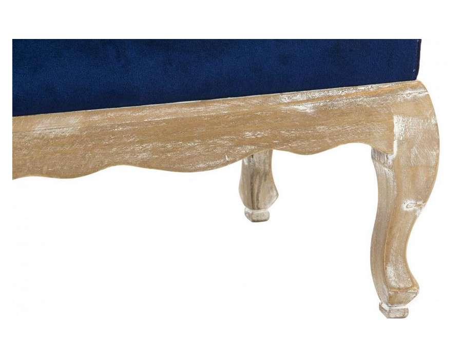 pouf bleu repose pied en velours bomb pas cher. Black Bedroom Furniture Sets. Home Design Ideas