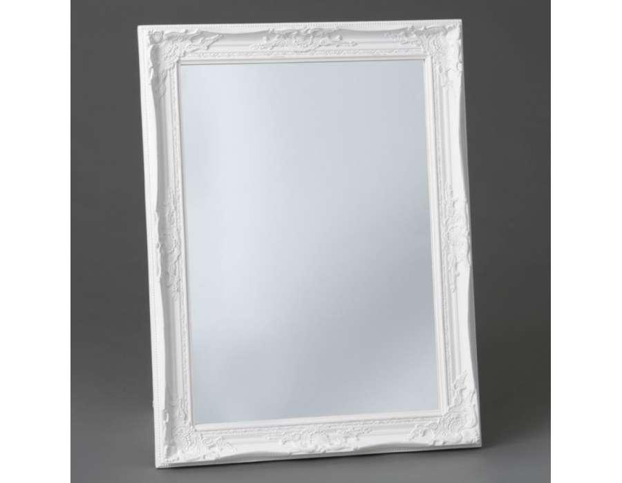 Miroir quadrilobe blanc miroir design blanc lizea grand for Miroir blanc romantique
