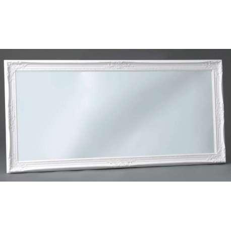 miroir romantique blanc 154 cm avec moulures 54 cm