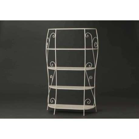 grande tag re blanche bomb e colonne pas cher. Black Bedroom Furniture Sets. Home Design Ideas