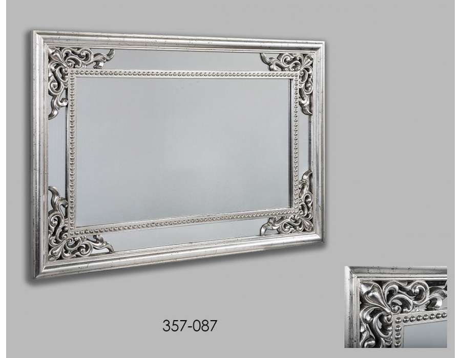 Awesome miroir rectangulaire baroque gallery for Miroir argente