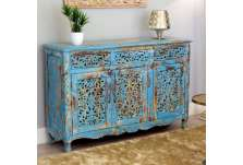 Grand buffet indien patine bleue