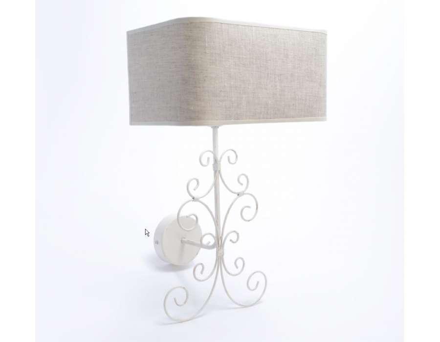 Applique murale romantique fer blanc for Applique murale style romantique