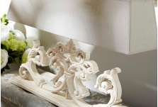 Lampe de buffet large sculptée