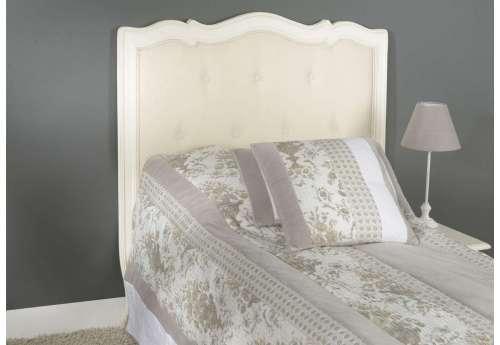 Tête de lit 90 cm crème capitonnée