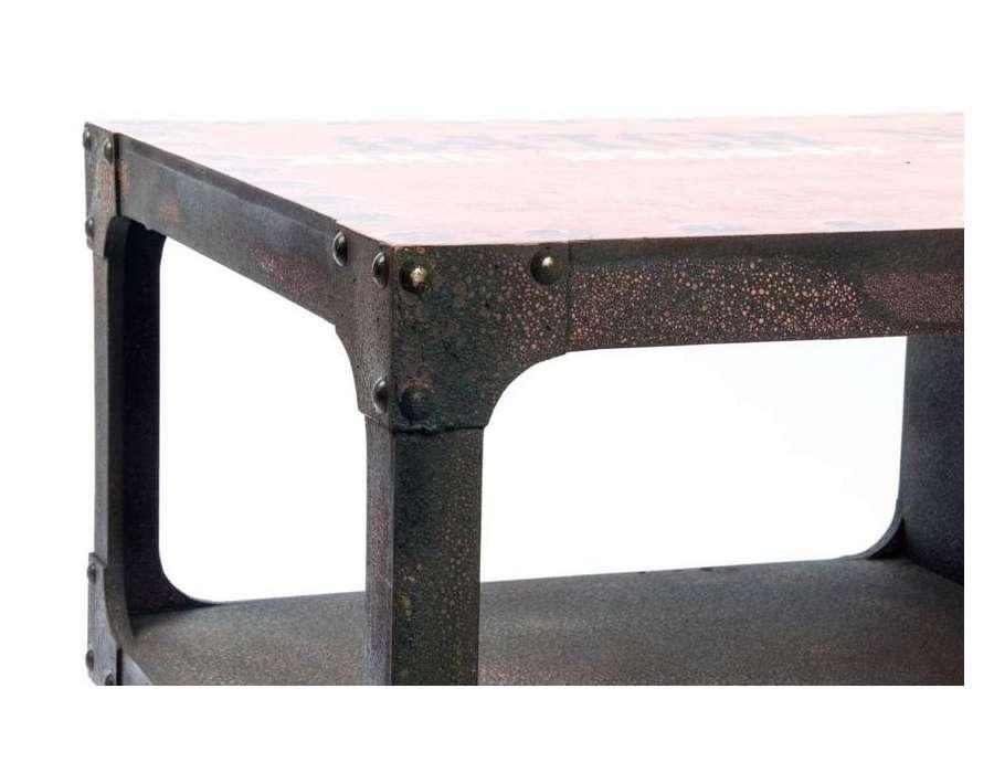 Table basse metal industriel loft nouveaux mod les de maison - Table basse metal industriel loft ...