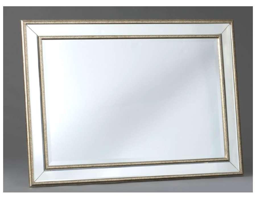 Miroir contour bois brio miroir drapier 50x70 cm achat for Grand miroir contour bois