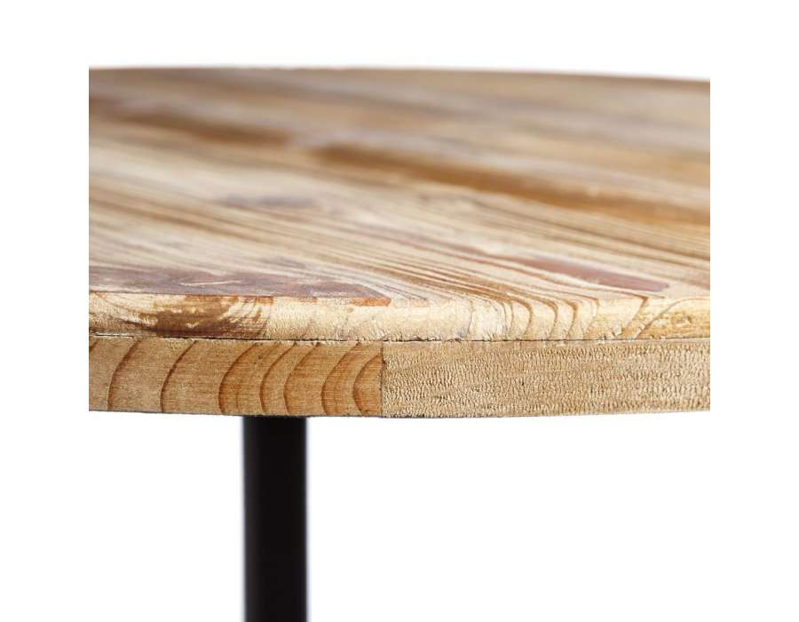 table ronde bois et metal id e int ressante pour la conception de meubles en bois qui inspire. Black Bedroom Furniture Sets. Home Design Ideas