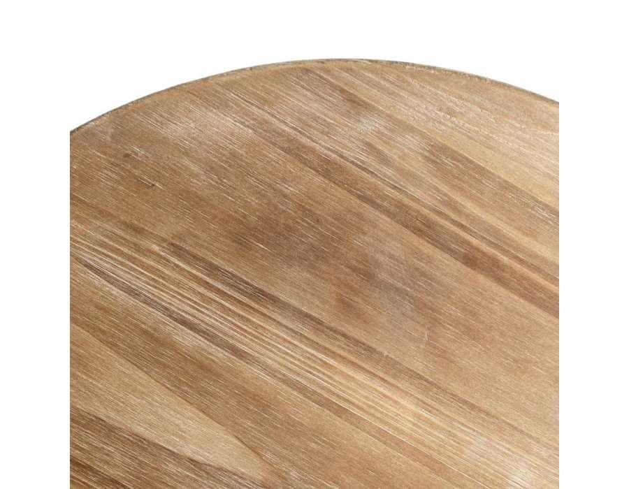 table ronde en bois et métal vieilli 75 cm pas chere # Table Ronde Bois Et Metal