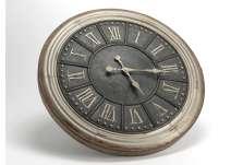 Horloge métal vieilli 60 cm antique