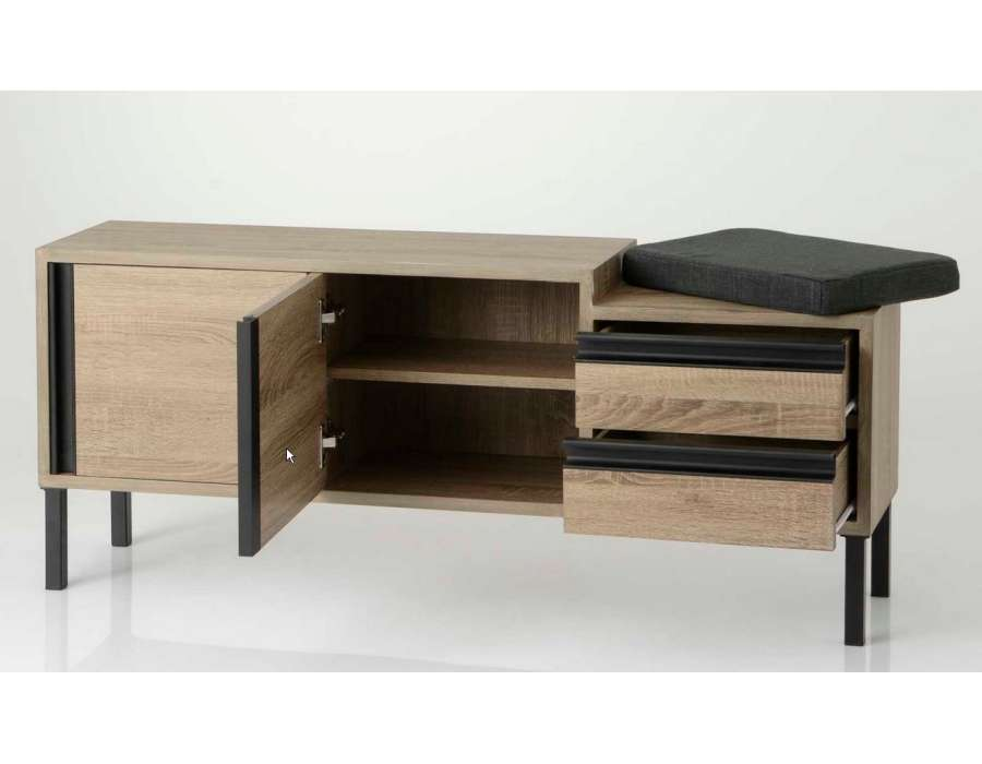 meuble d entree avec banc d coration de maison contemporaine. Black Bedroom Furniture Sets. Home Design Ideas