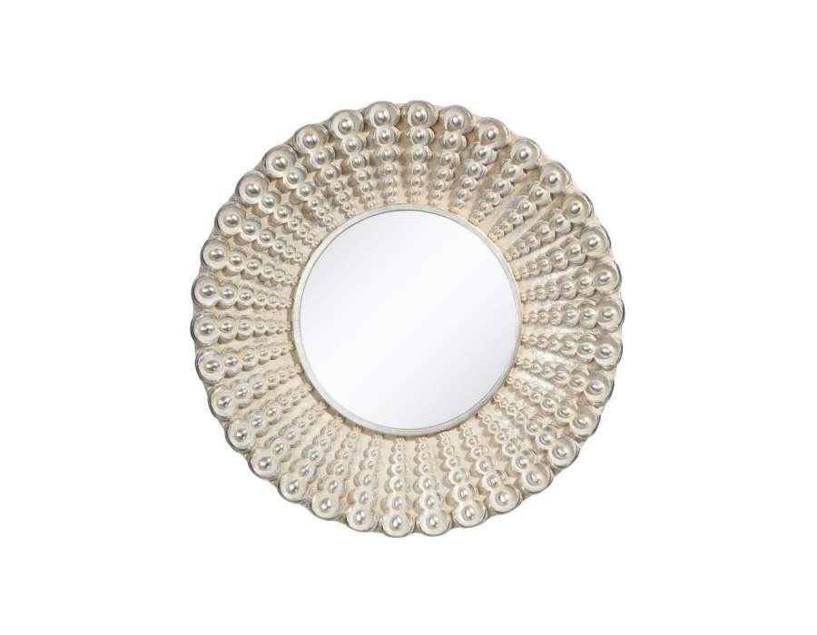 Miroir rond xl argent id es novatrices de la conception for Miroir rond 120 cm