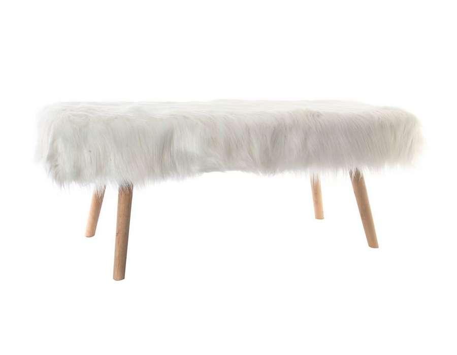banquette fourrure de 110 cm pas chere. Black Bedroom Furniture Sets. Home Design Ideas