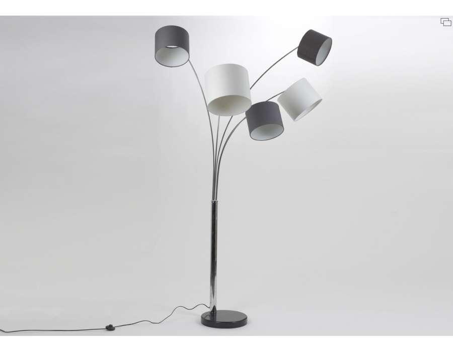 Lampe Haute De 160 Cm Avec 5 Branches Moderne