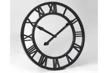 Horloge 75 cm fond miroir noire