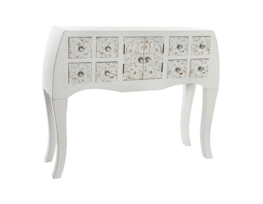 Console Baroque Blanche : console baroque japonaise blanc et dor e 8 tiroirs pas chere ~ Teatrodelosmanantiales.com Idées de Décoration