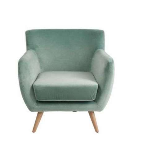 fauteuil vert en corbeille ou fauteuil rétro vert jolipa