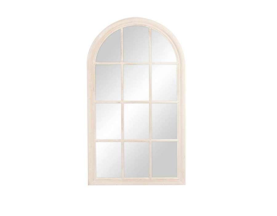 Miroir orangerie bois for Miroir quadrille kine