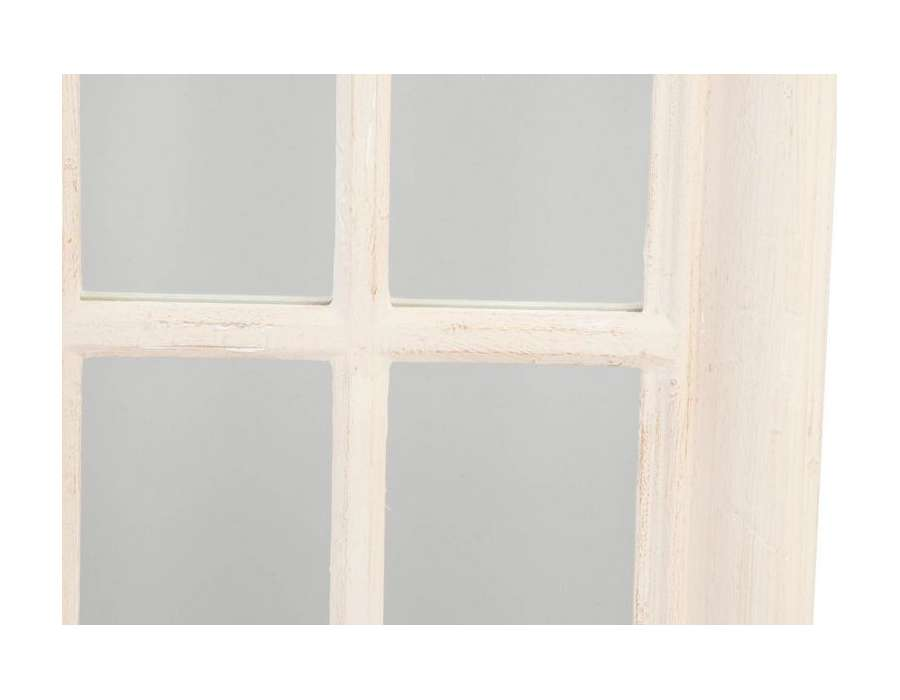 Grand miroir quadrill beige en bois patin pas cher for Miroir quadrille kine