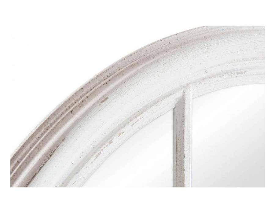 Miroir orangerie blanc for Miroir quadrille mural