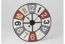 Grande horloge colorée 70 cm