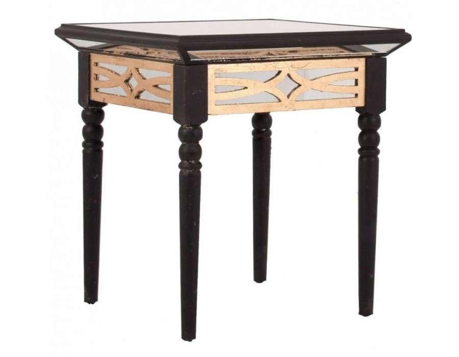 bout de canap art d co avec miroir noire vical home. Black Bedroom Furniture Sets. Home Design Ideas