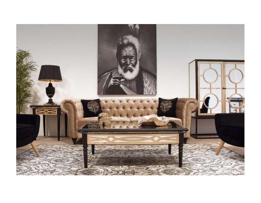 Bout de canapé Art déco noire Vical home