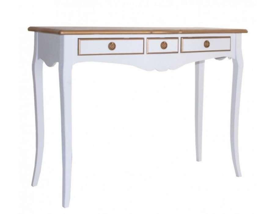 console blanche avec plateau dor de la marque vical home. Black Bedroom Furniture Sets. Home Design Ideas