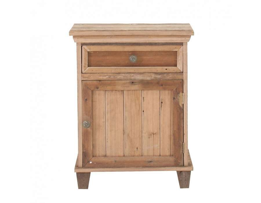 table de chevet vintage en bois 1 porte vical home