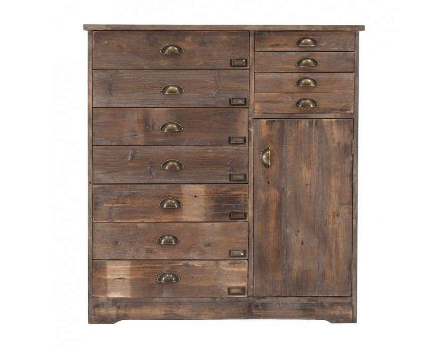 Meuble de m tier en bois avec 11 tiroirs - Meubles avec tiroirs ...