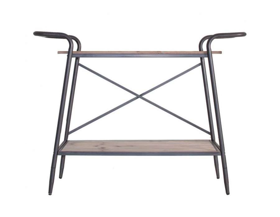 console industrielle 2 niveaux vical home. Black Bedroom Furniture Sets. Home Design Ideas