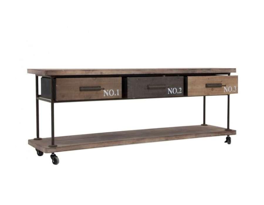 Meuble télé industriel Vical Home 3 tiroirs