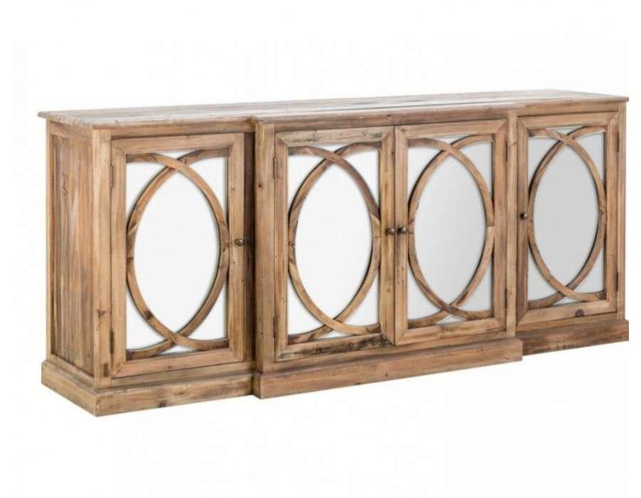 Bahut en bois avec fa ades miroir authentique - Miroir bahut ...