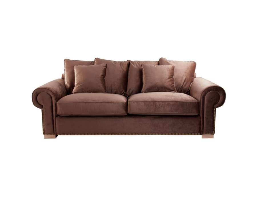 Canap 240 cm marron colonial vical home - Canape style colonial ...