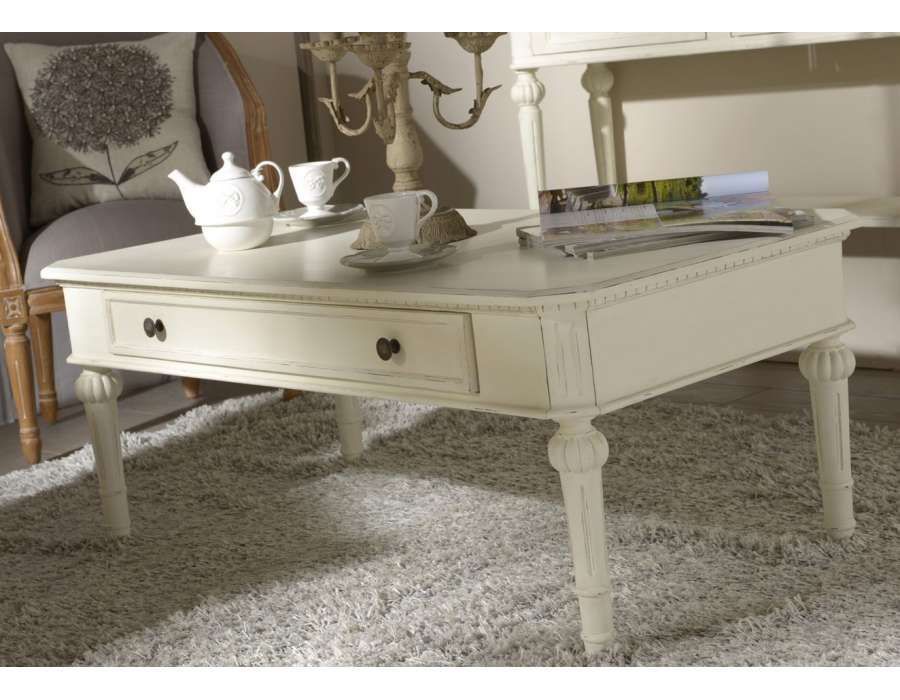 Table basse blanche amadeus style directoire - Table basse amadeus ...