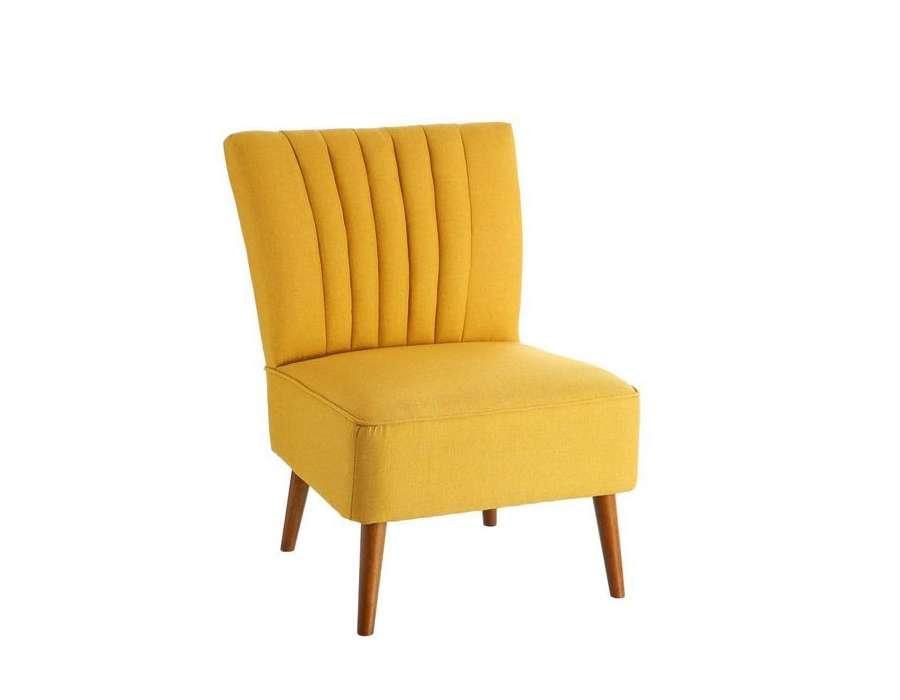 Fauteuil de salon moutarde scandinave pas cher - Moderne fauteuils ...