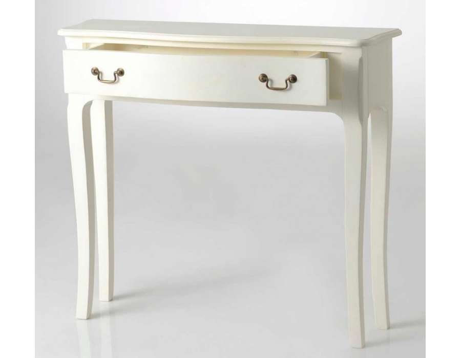 console d 39 entr e galb e 80 cm blanche amadeus. Black Bedroom Furniture Sets. Home Design Ideas