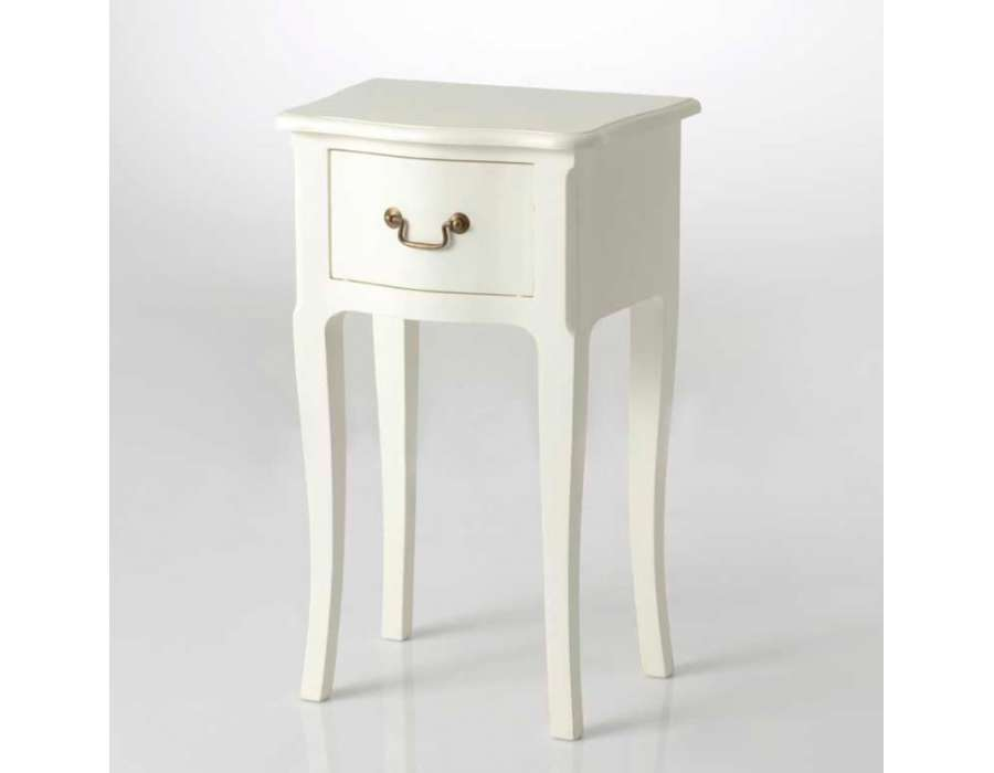 Table de nuit romantique blanche cass pas chere amadeus - Chevet blanc romantique ...